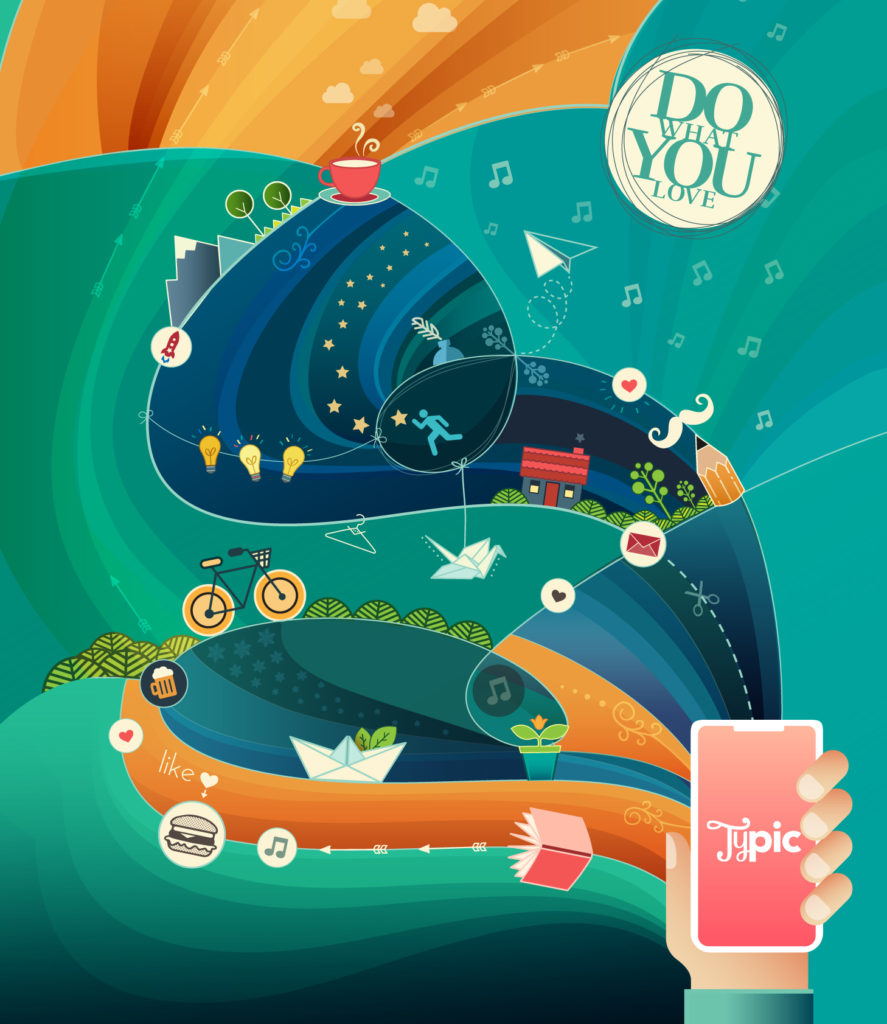 colorful custom illustration