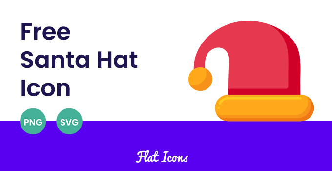 Santa Hat SVG PNG Icon Featured Image