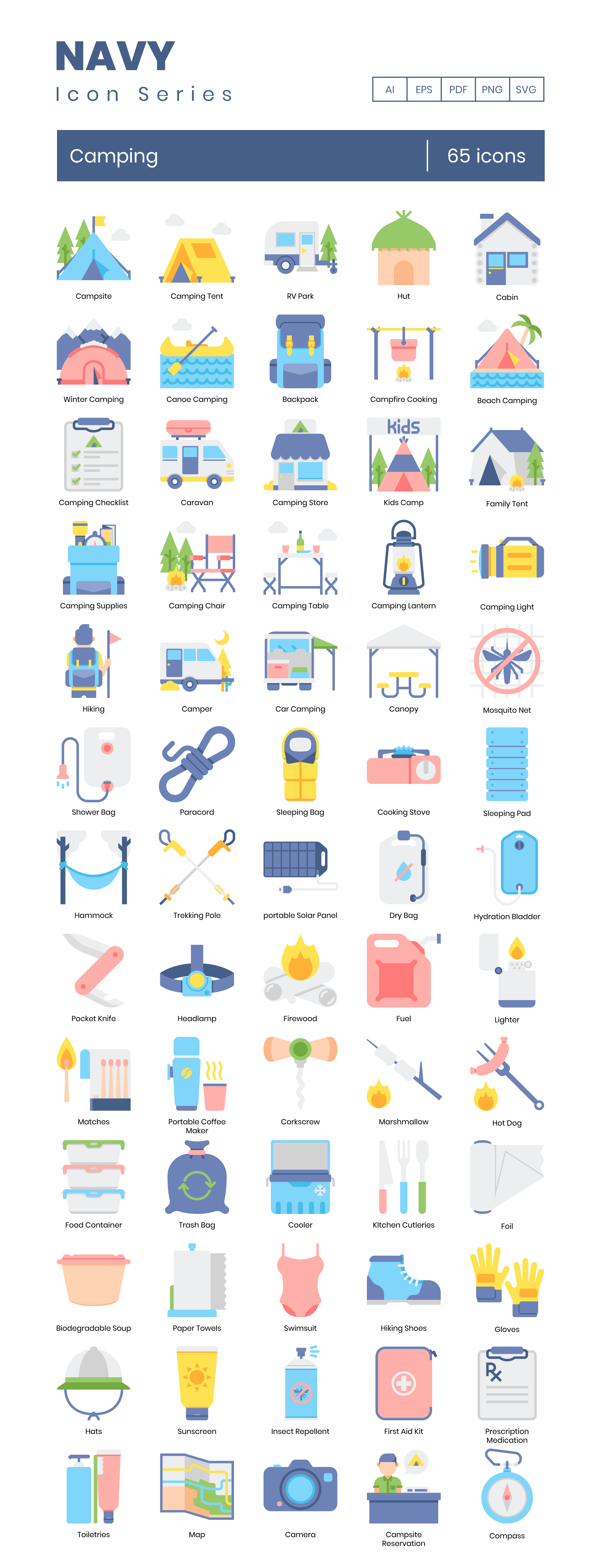 Preview Image for Camping Icon Set