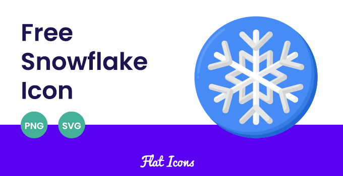 Snowflake SVG PNG Icon Featured Image