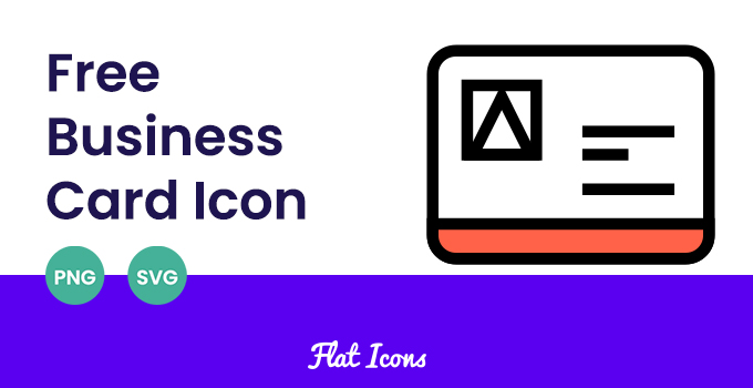 free business card icon