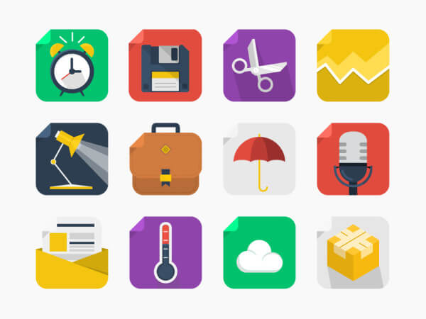 20 Free Square Icons