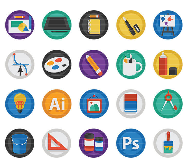 Art & Design Flat Icons