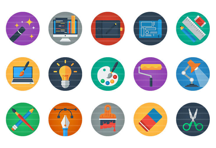 Design / Creativity Flat Icons