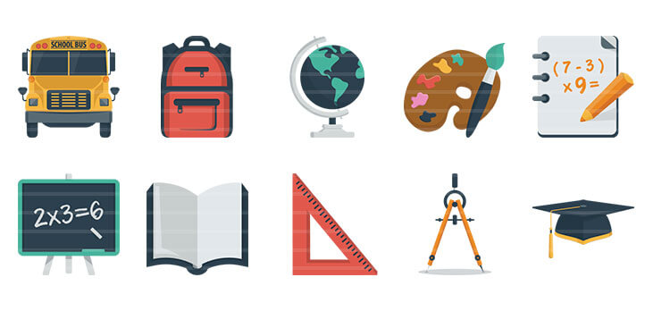 Education Flat Icons