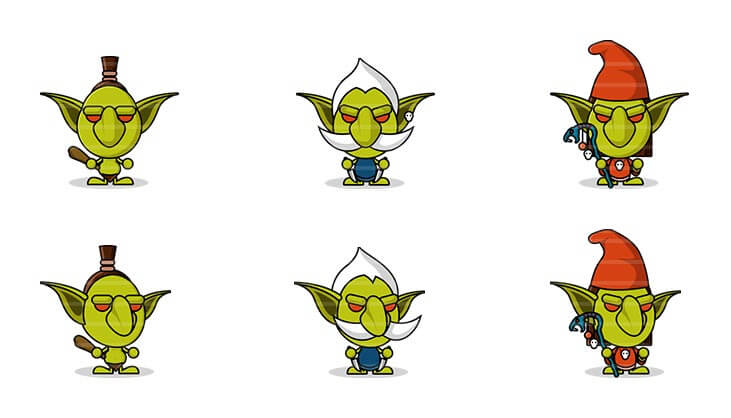 Flat Goblin Characters