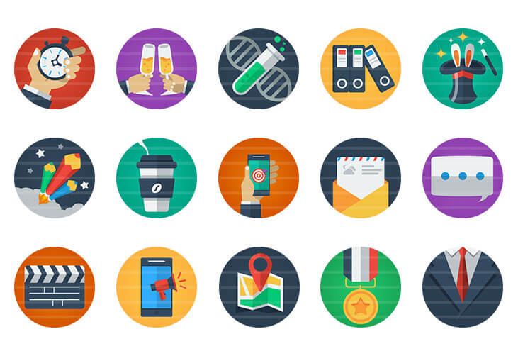 Miscellaneous Flat Icons