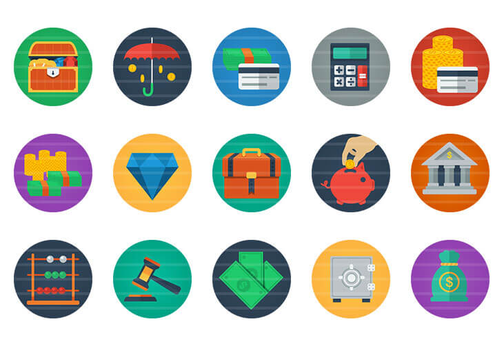 Money / Finance Flat Icons