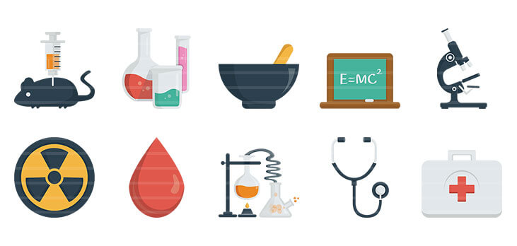 Science & Health Flat Icons