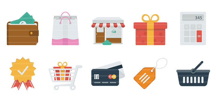 Shopping / Money Flat Icons