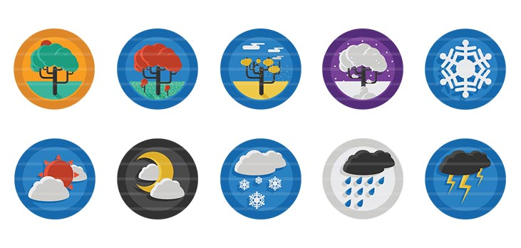 Weather Flat Icons