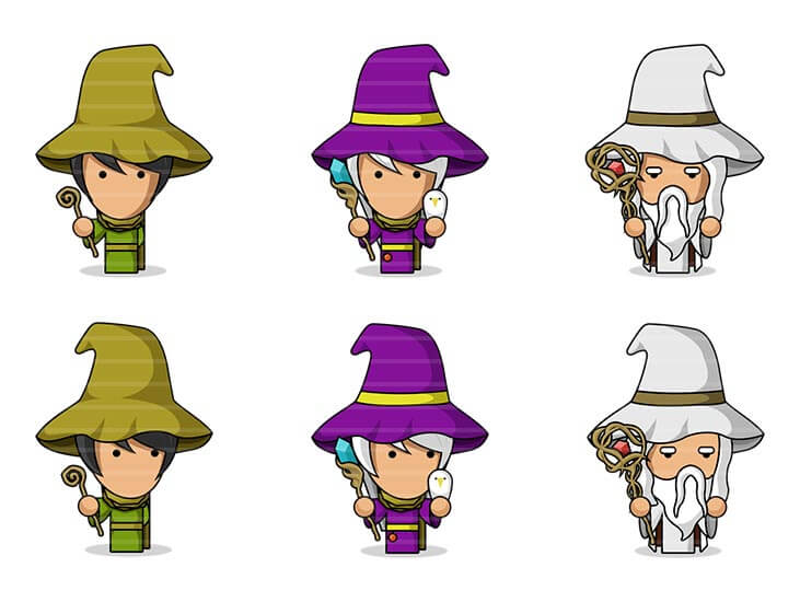 Flat Wizard Characters