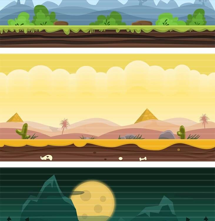 10 Flat Game Backgrounds