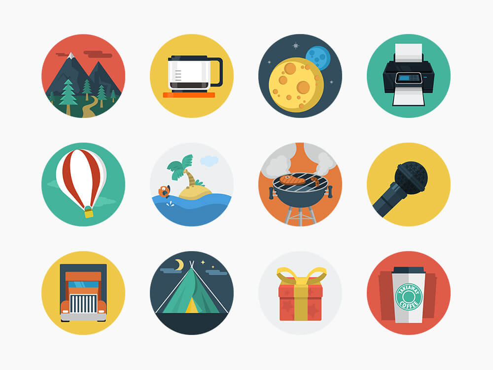 146 Awesome Flat Icons Get Them Now