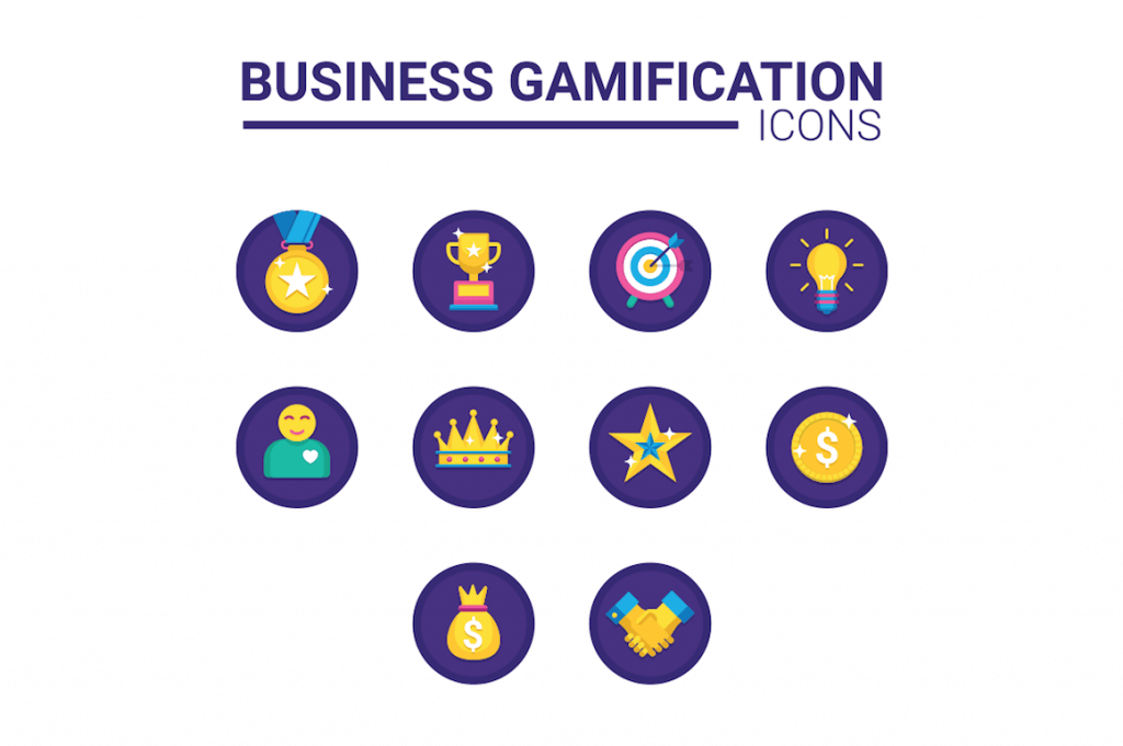 10 business gamification icons