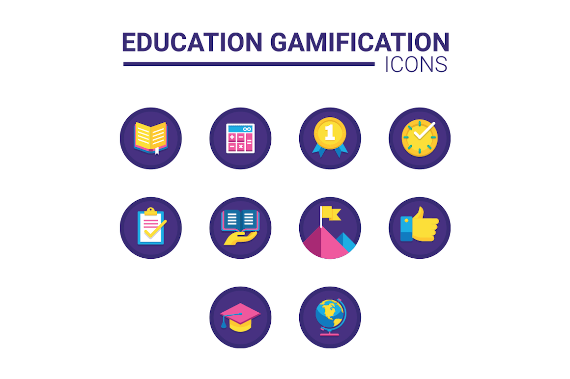 10 education gamification icons