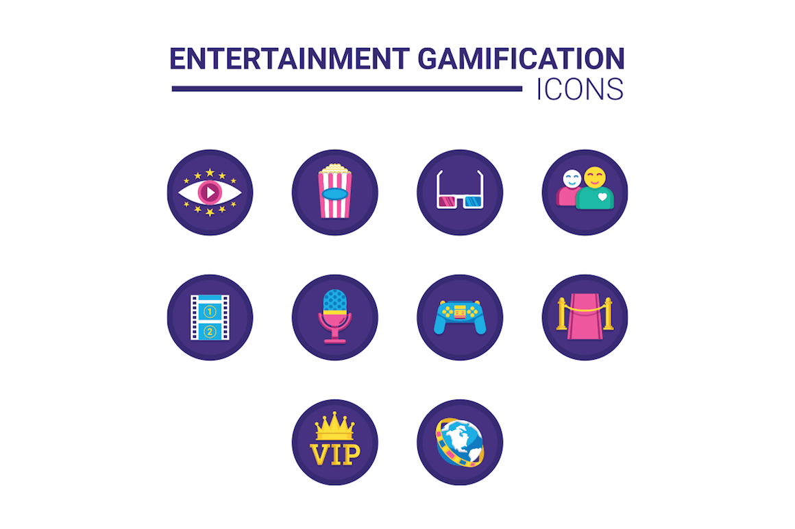 10 entertainment gamification icons