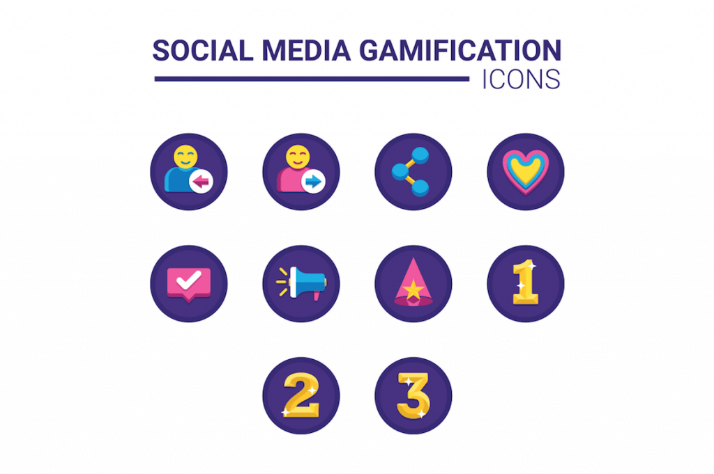 10 social media gamification icons