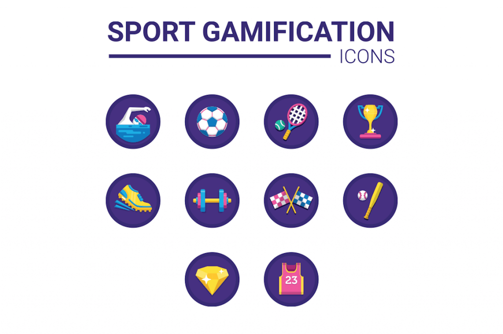 10 sport gamification icons