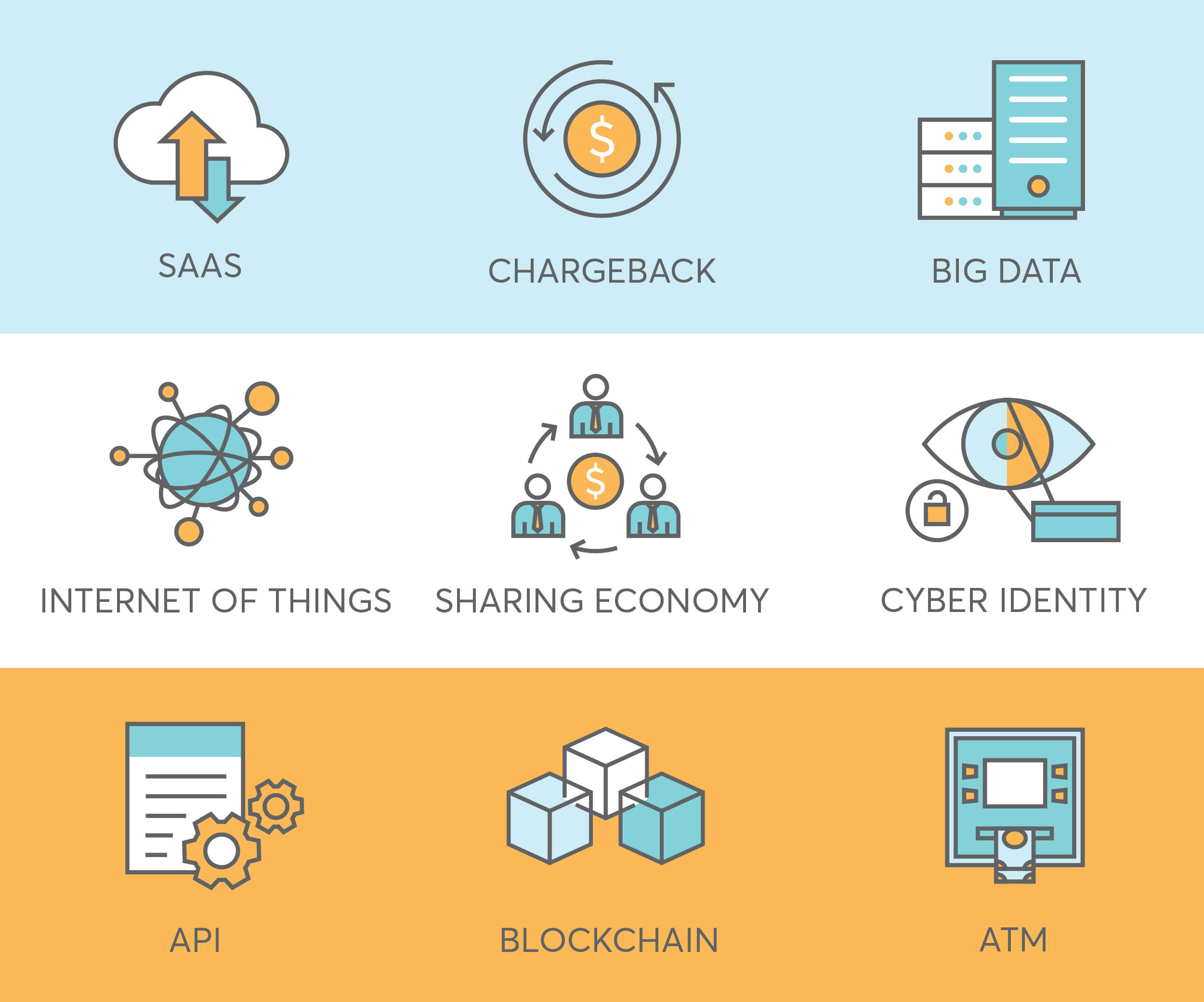 9 finance icons for fintech startup