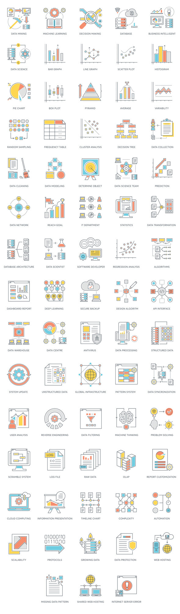 full preview of data analytics icons
