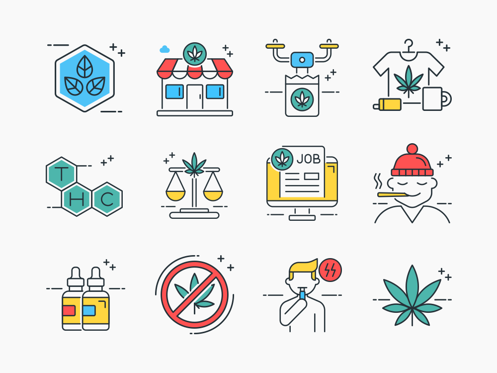 Marijuana Icons Set