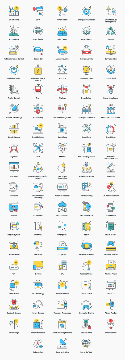 Smart Technology Vector Icons
