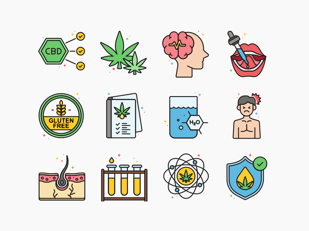 cbd oil icons