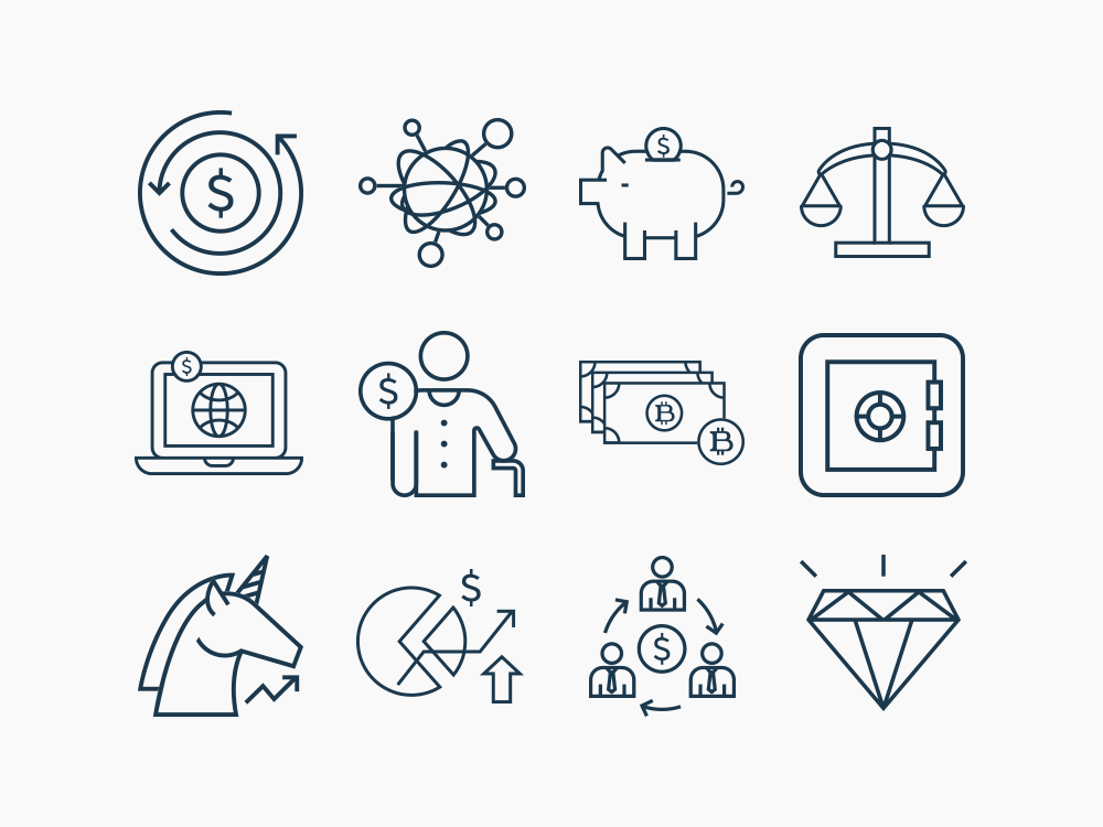 fintech line icons