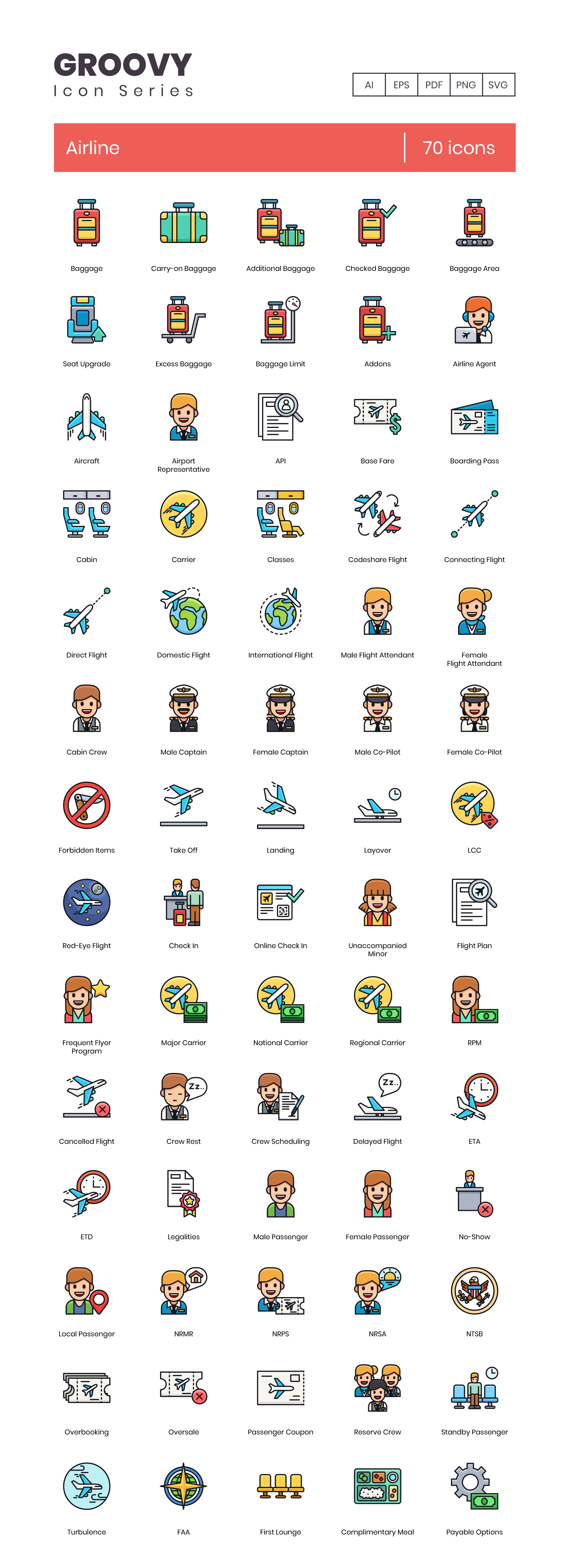 70 Airline Icons