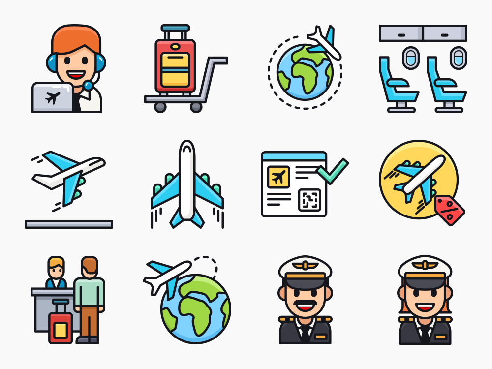 Airline Icons Featured