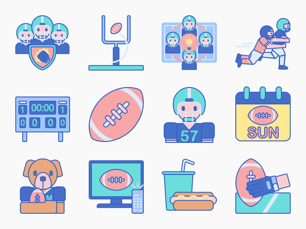 American Football Icons Featured