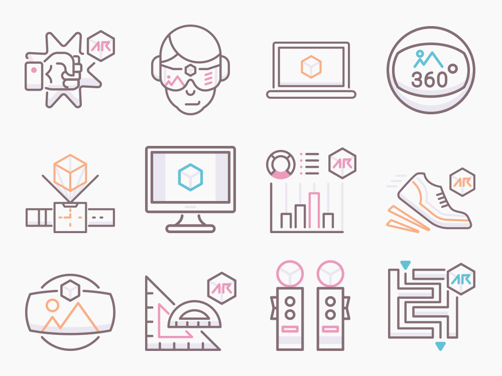 Augmented Reality Icons Featured