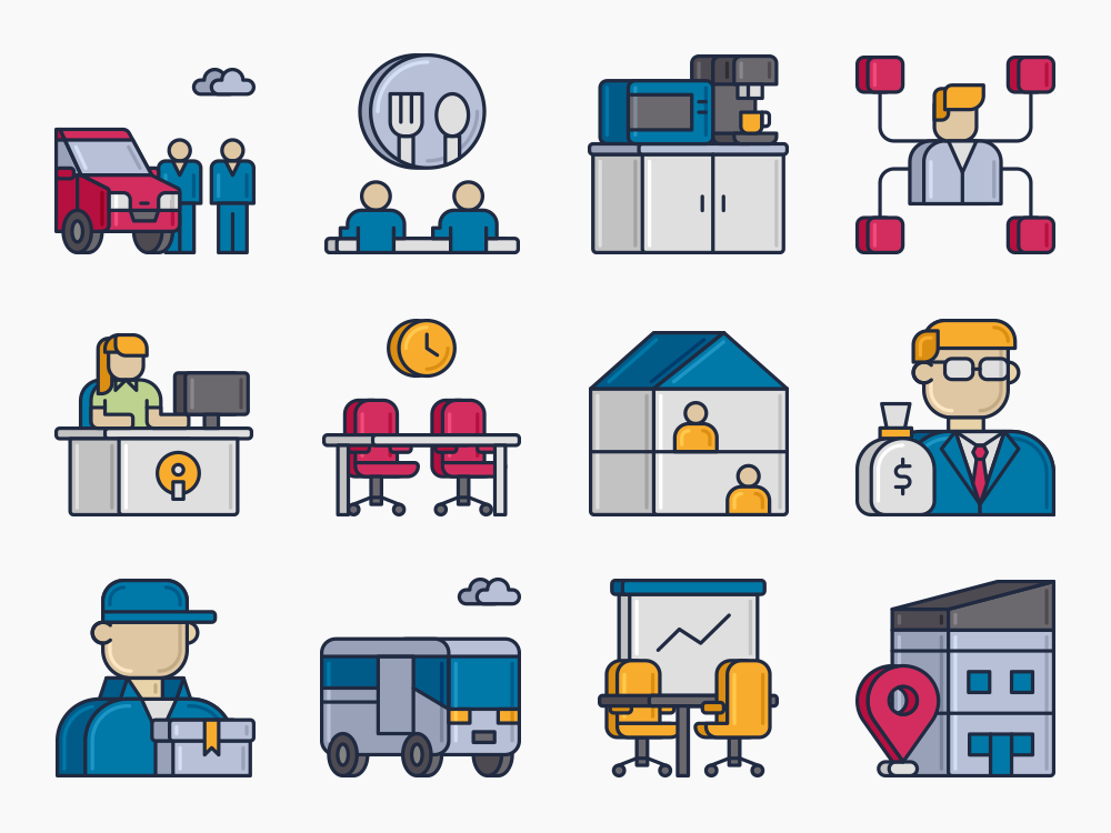 Coworking Icons Featured