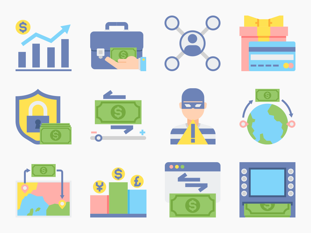 Online Money Service Icons Featured Image