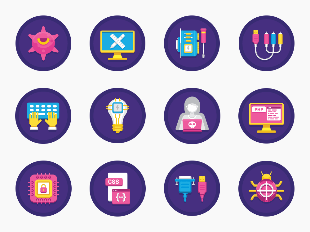 Computer Science Icon Set