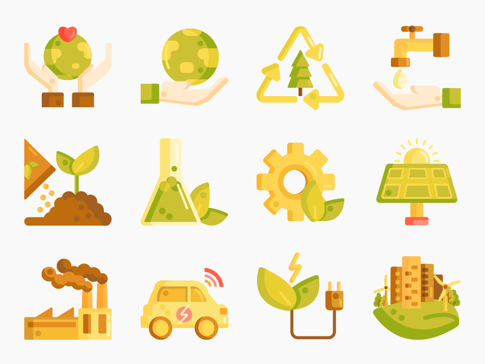 80 Ecology Icon Set 2