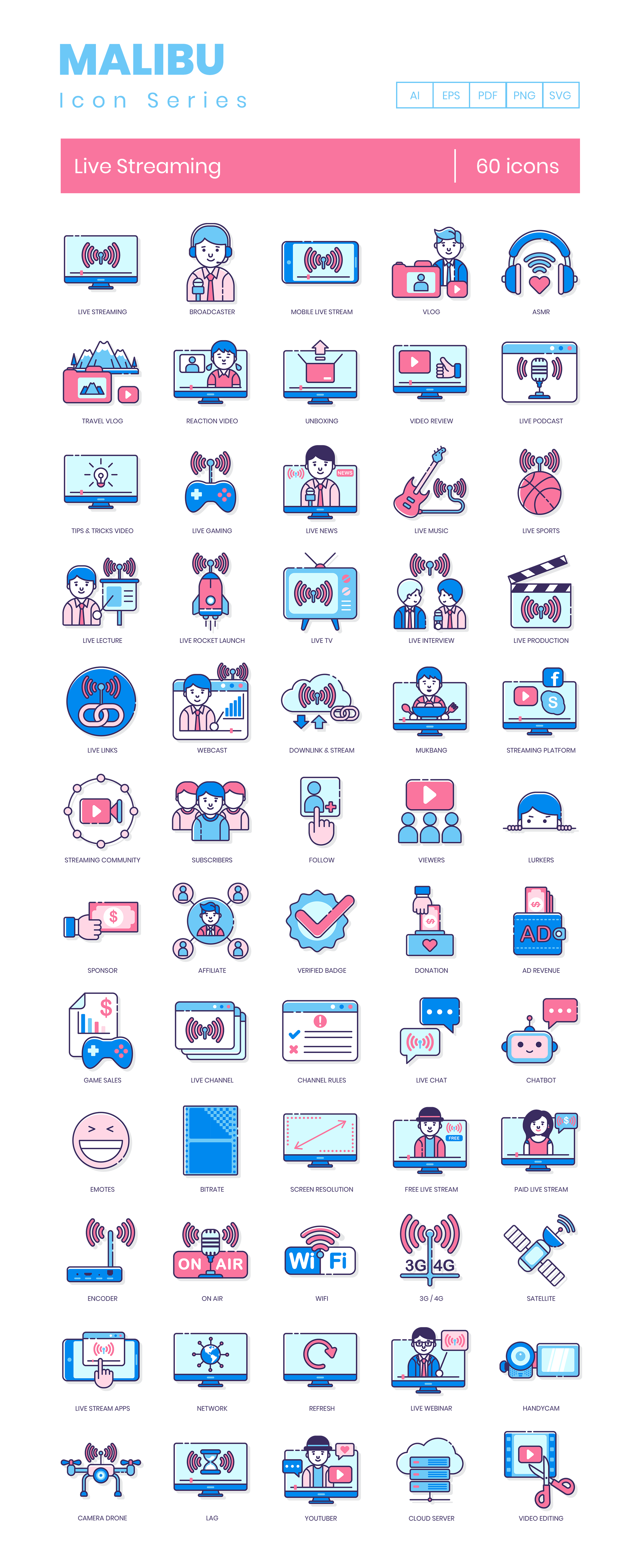 Live Streaming Icons