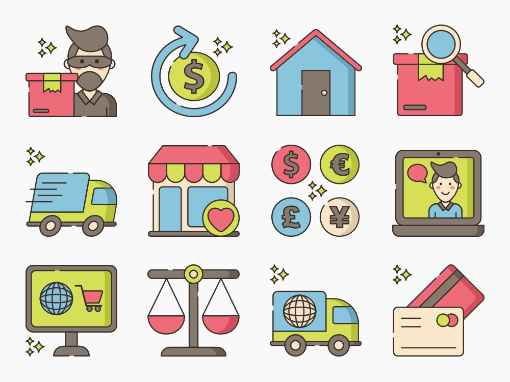 web store icons