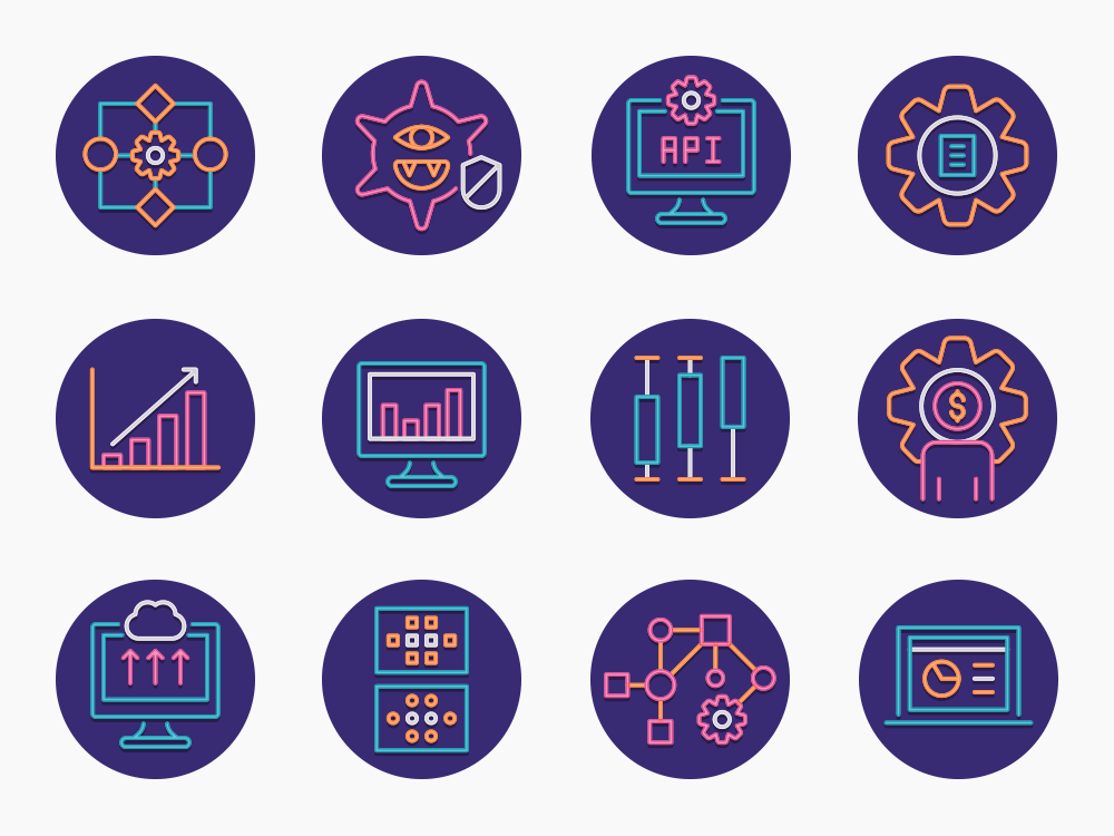 73 Data Analytics Icon Set 2