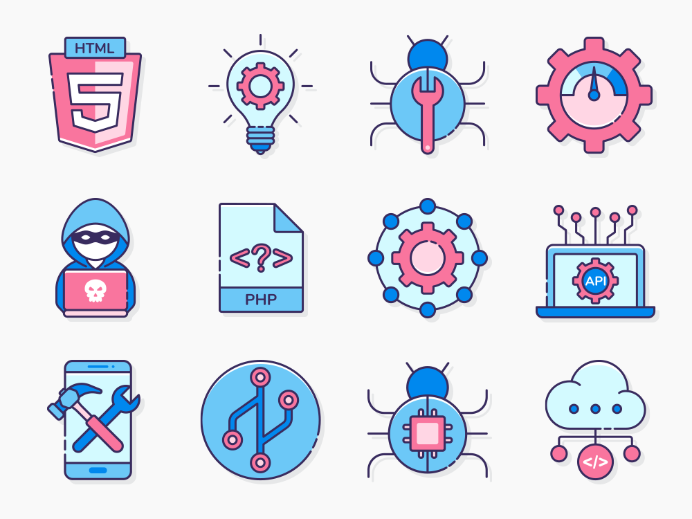 mobile app development icons