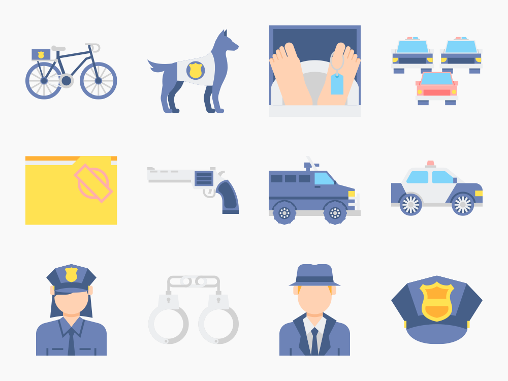 75 Police Icons