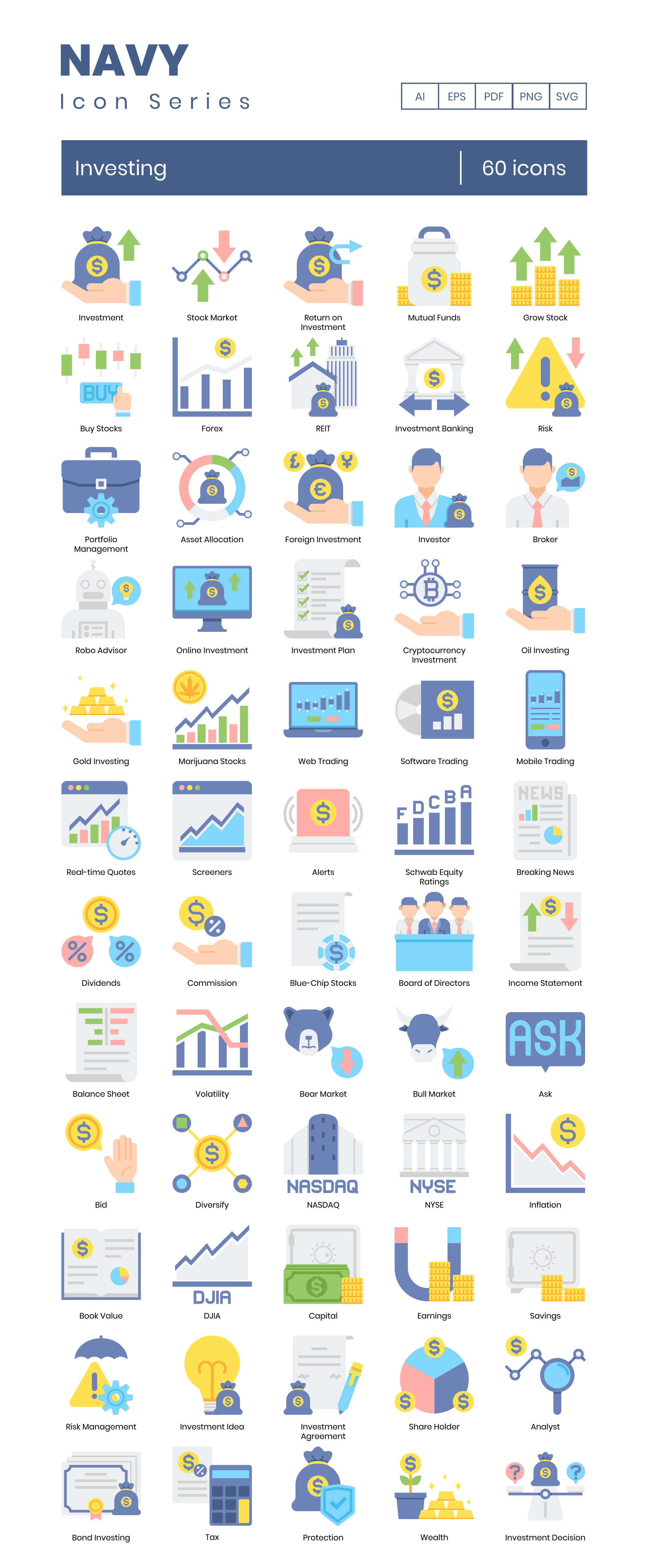 Investing Vector Icons