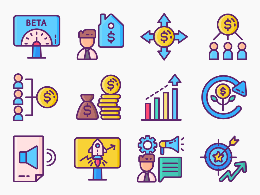 crowdfunding icon set