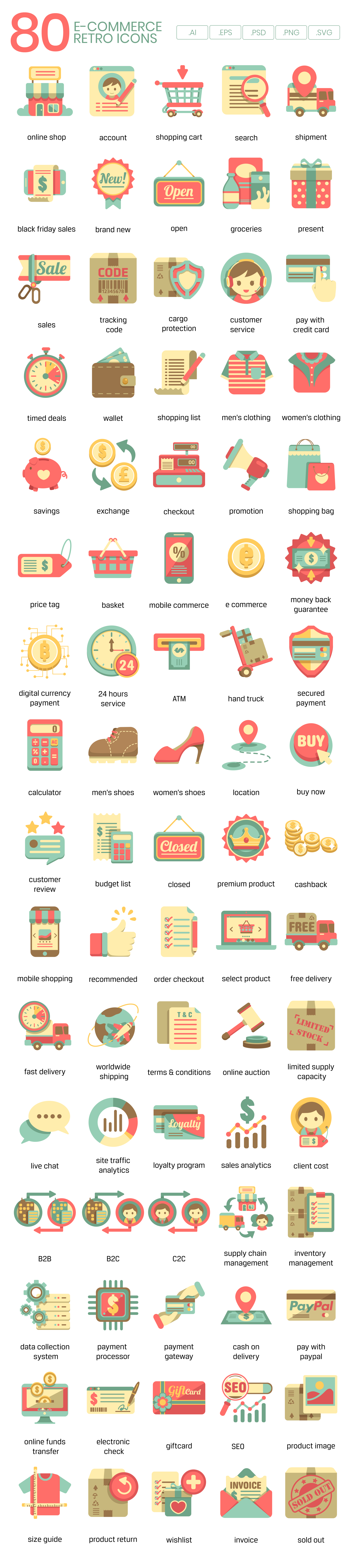ecommerce vector icons