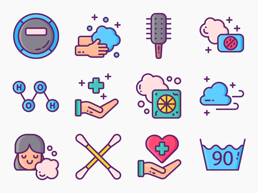 60 Hygiene Icon Set 3