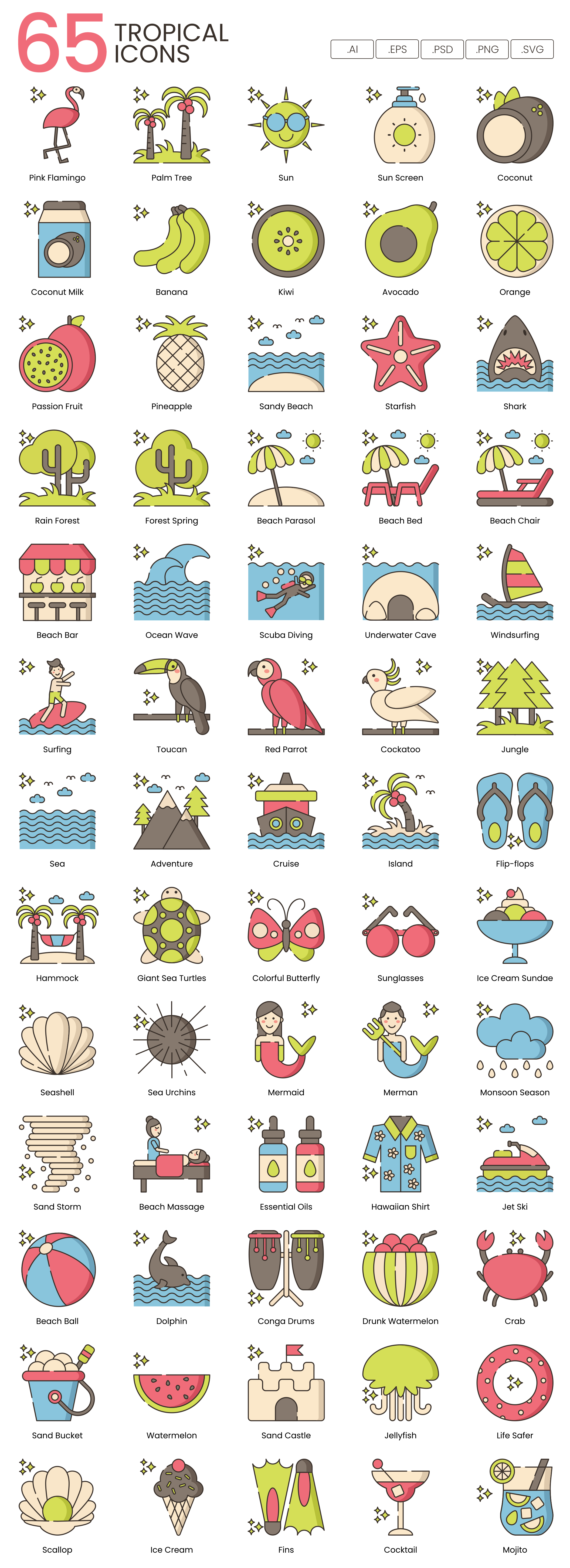 Tropical Vector Icons