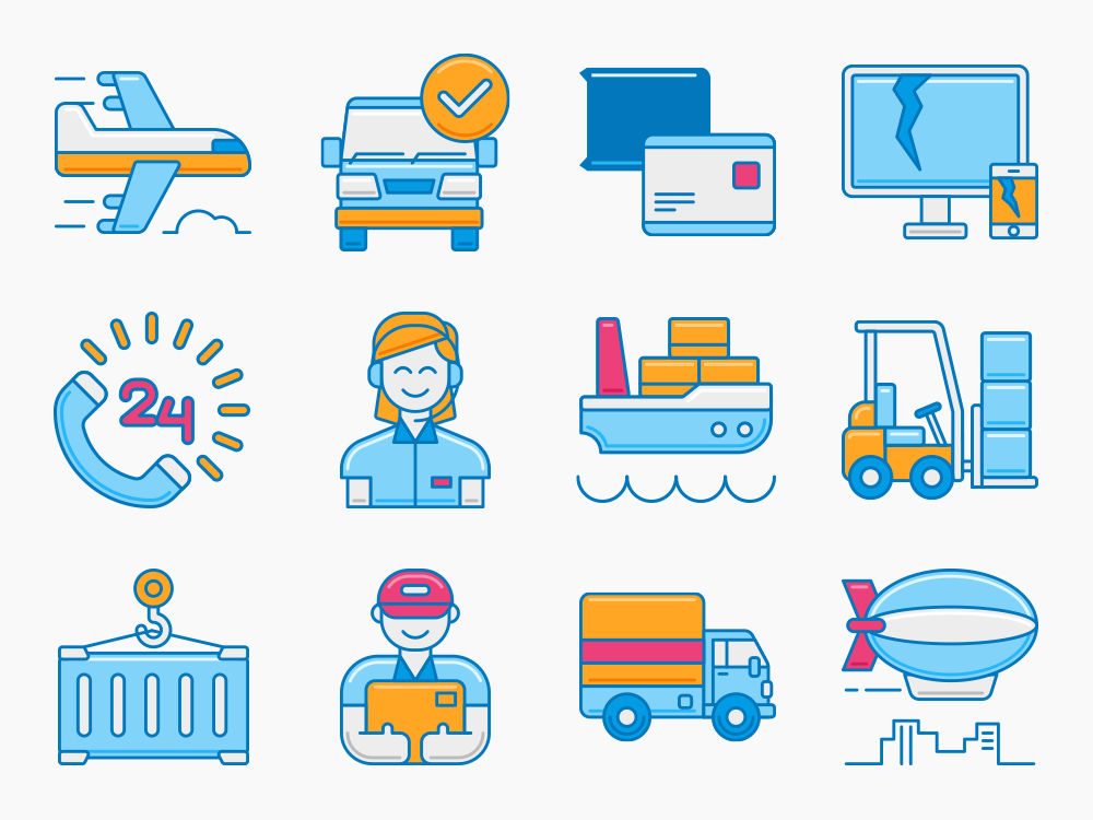 60 Logistics Icon Set 1
