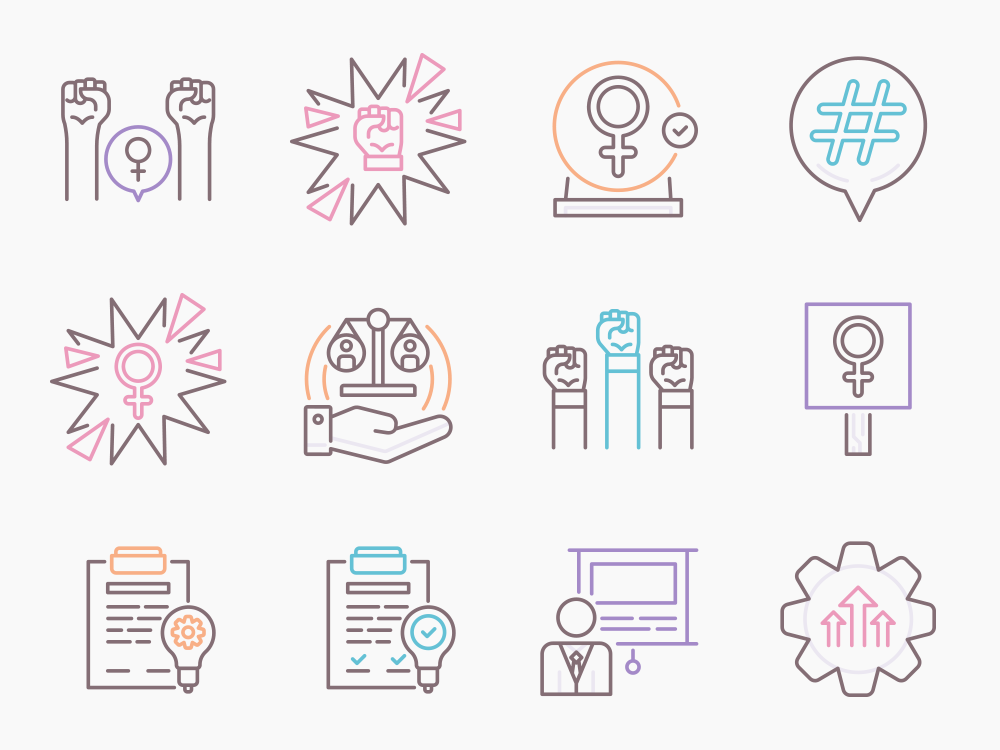 activism vector icons