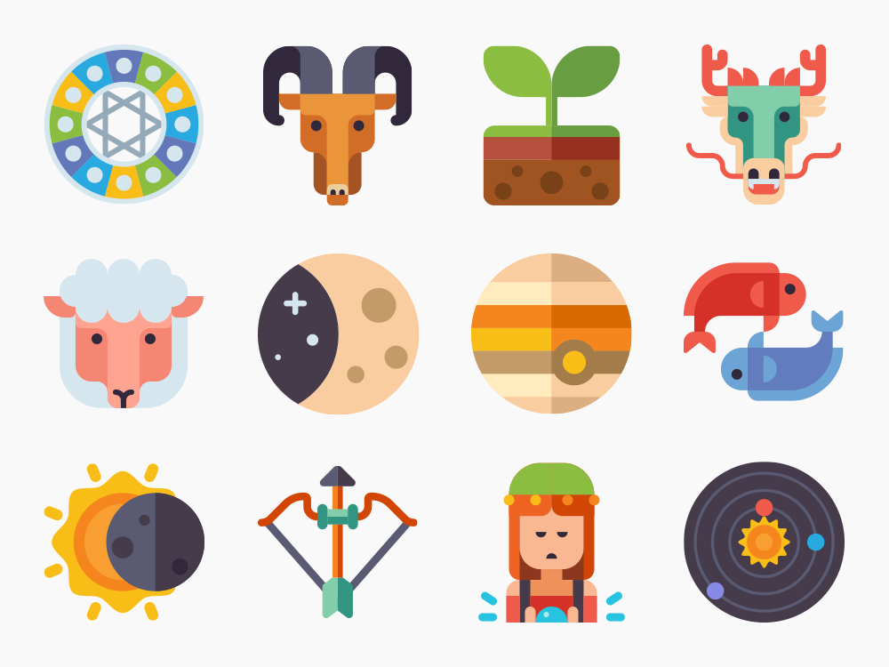 50 Astrology Icon Set 1